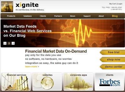 financial market data saas at www.xignite.com