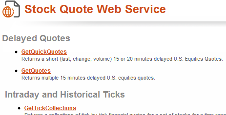 stock quote web service