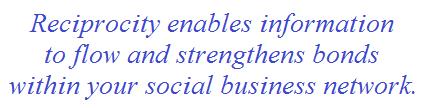 social business network reciprocity